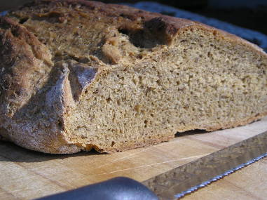 Brewer's spent grain bread