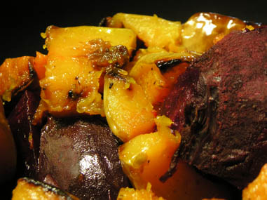 Butternut squash and beets