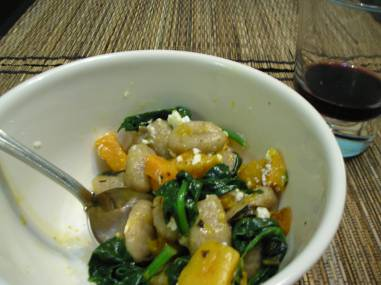 Gnocchi with butternut squash
