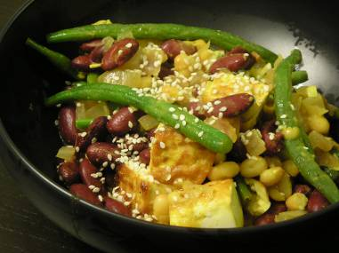 Mixed bean pan-fry